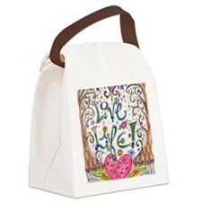 Love Life Canvas Lunch Bag