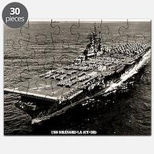 shangrila cv framed panel print Puzzle