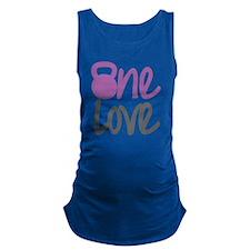 Purple One Love Kettlebell Maternity Tank Top