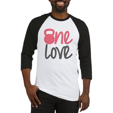 Pink One Love Kettlebell Baseball Jersey