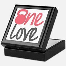 Pink One Love Kettlebell Keepsake Box