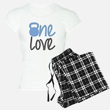 Blue One Love Kettlebell Pajamas