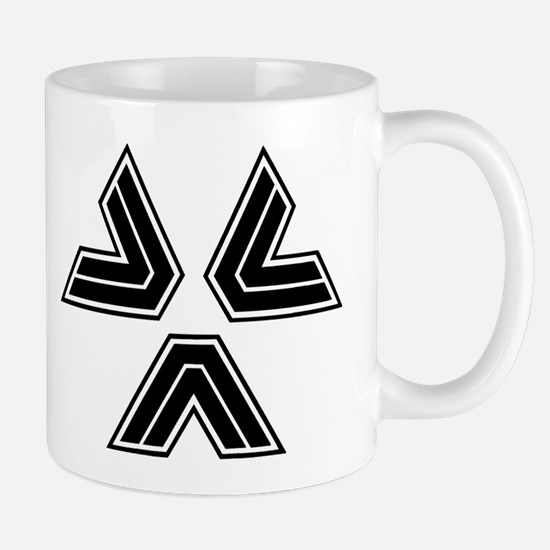 Almost Human Police Black Triangles Mugs