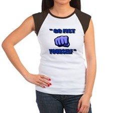 GO FIST YOURSELF Women's Cap Sleeve T-Shirt