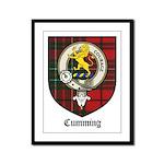 Cumming Clan Crest Tartan Framed Panel Print