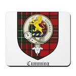 Cumming Clan Crest Tartan Mousepad