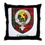 Cumming Clan Crest Tartan Throw Pillow