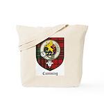 Cumming Clan Crest Tartan Tote Bag