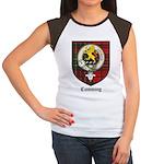 Cumming Clan Crest Tartan Women's Cap Sleeve T-Shi
