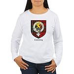 Cumming Clan Crest Tartan Women's Long Sleeve T-Sh