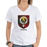 Cumming Clan Crest Tartan Women's V-Neck T-Shirt