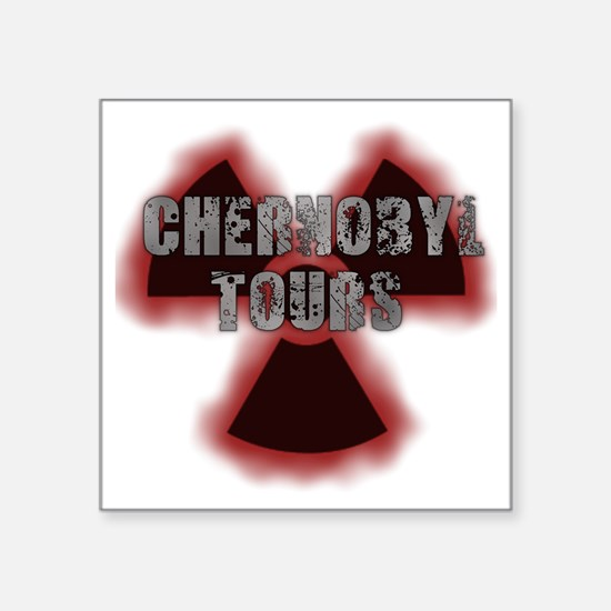 "Chernobyl Square Sticker 3"" x 3"""