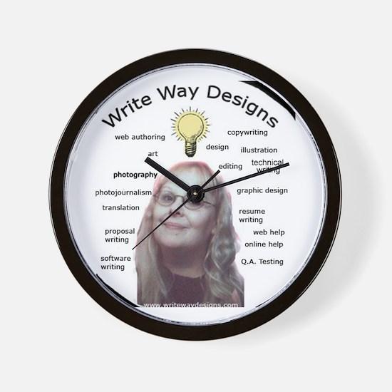 Owner - Write Way Designs Wall Clock