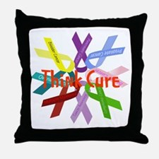 Think Cure Throw Pillow