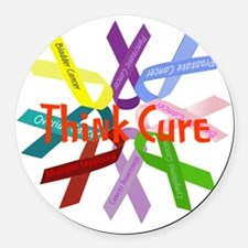 Think Cure Round Car Magnet