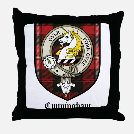 Cunningham Clan Crest Tartan Throw Pillow