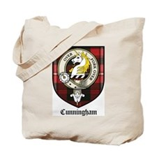 Cunningham Clan Crest Tartan Tote Bag