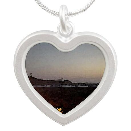 Bonfire Silver Heart Necklace