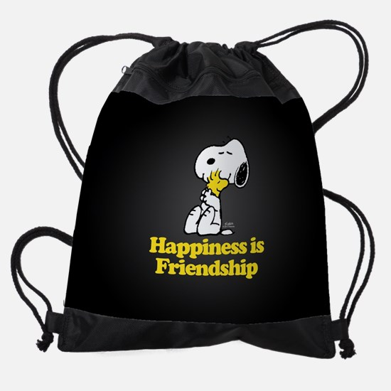 Happiness is Friendship Drawstring Bag