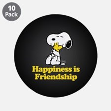 """Happiness is Friendship 3.5"""" Button (10 pack)"""