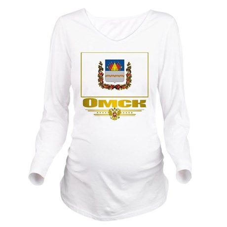 Omsk Flag Long Sleeve Maternity T-Shirt