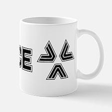 Almost Human Black Police Logo Mugs