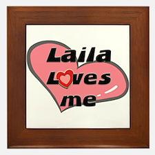 laila loves me  Framed Tile