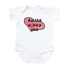 laila loves me  Infant Bodysuit
