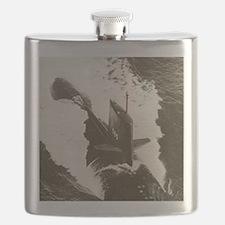 skipjack framed panel print Flask