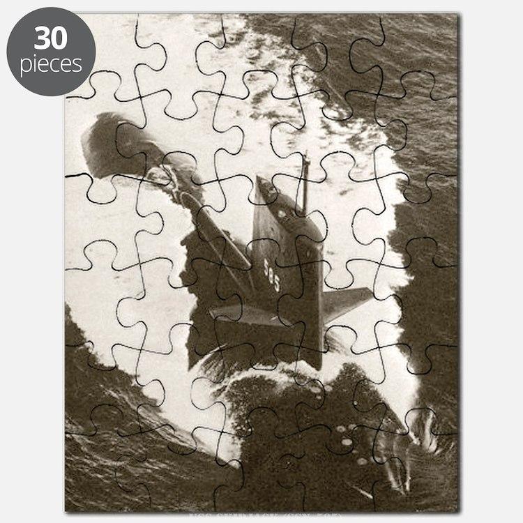 skipjack framed panel print Puzzle