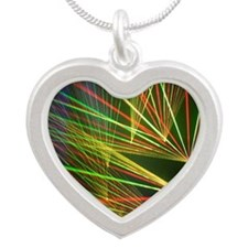 Lazer Silver Heart Necklace