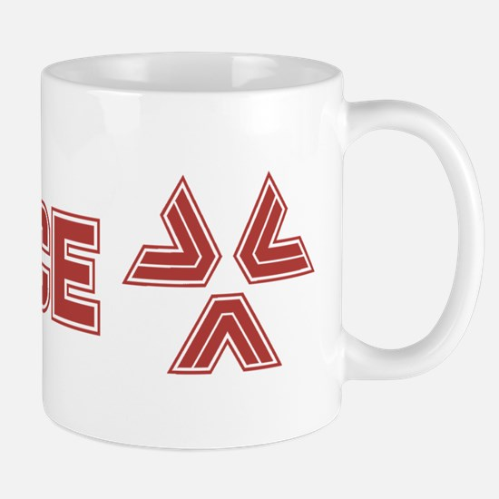 Almost Human Red Police Logo Mugs