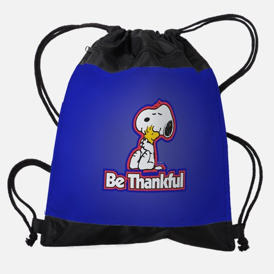 Peanuts Be Thankful Drawstring Bag
