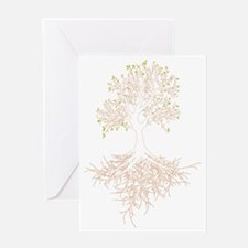 Tree w/roots light Greeting Card