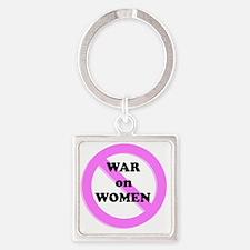 War on Women Square Keychain