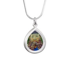 Van Gogh Silver Teardrop Necklace