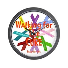Walking for the CURE copy Wall Clock