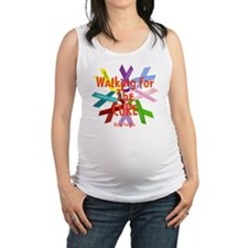 Walking for the CURE copy Maternity Tank Top