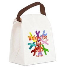 Walking for the CURE copy Canvas Lunch Bag