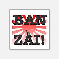 """BANZAI - RISING SUN Square Sticker 3"""" x 3"""""""
