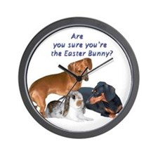 Are you the Easter Bunny Dogs Wall Clock