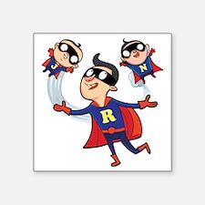 """Super Dad Square Sticker 3"""" x 3"""""""