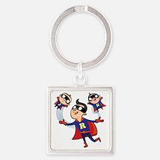 Super Dad Square Keychain