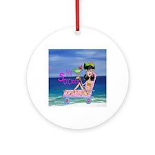 Beach Girl Round Ornament