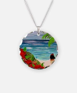 Hula Girl on the Beach Necklace