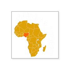 """nigeria1 Square Sticker 3"""" x 3"""""""