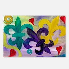 Mardi Gras Fleur de lis Postcards (Package of 8)
