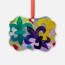 Mardi Gras Fleur de lis Ornament