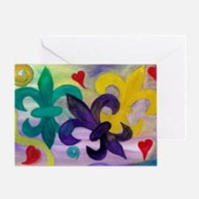 Mardi Gras Fleur de lis Greeting Card