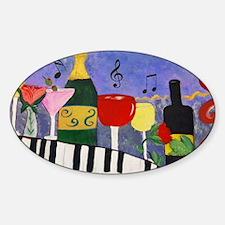 Piano Bar Sticker (Oval)